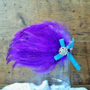 Tollas fejdísz lila-kék