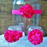 Fejdísz és szandál rózsaszín
