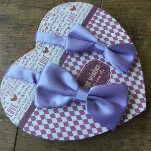 Apa fia csokornyakkendők lila