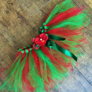 Tutu szoknya virág karkötővel piros zöld