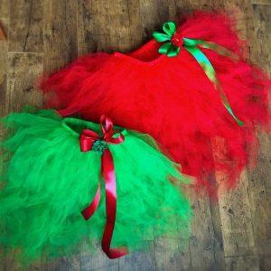 Anya-lánya tutu szett piros zöld