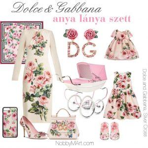 dolcegabbana 2018 tavasz anya lanya szett