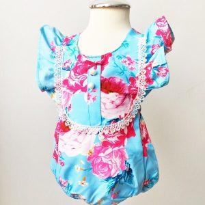 rozsas gyermek napozó ruha kék