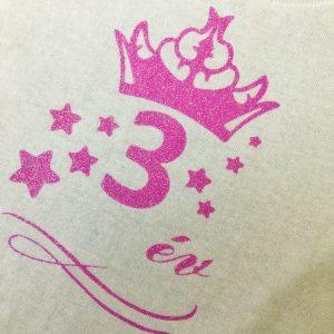 csillámos születésnapi póló