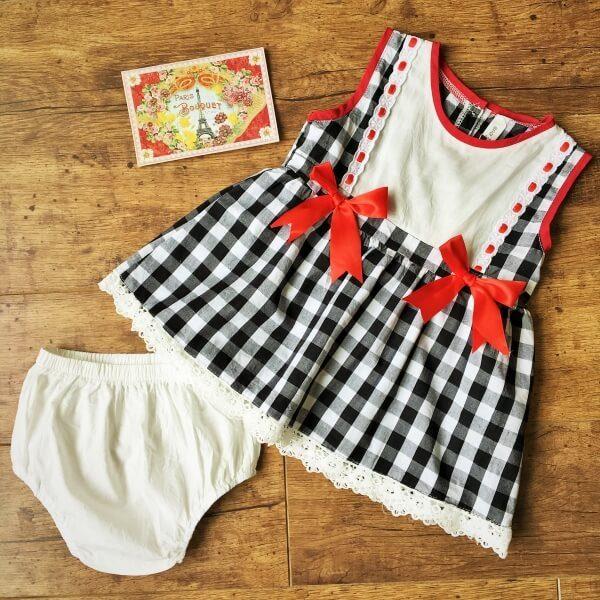 Petra kockás alkalmi kislány ruha esküvőre - Nobby M Art 5215f11726