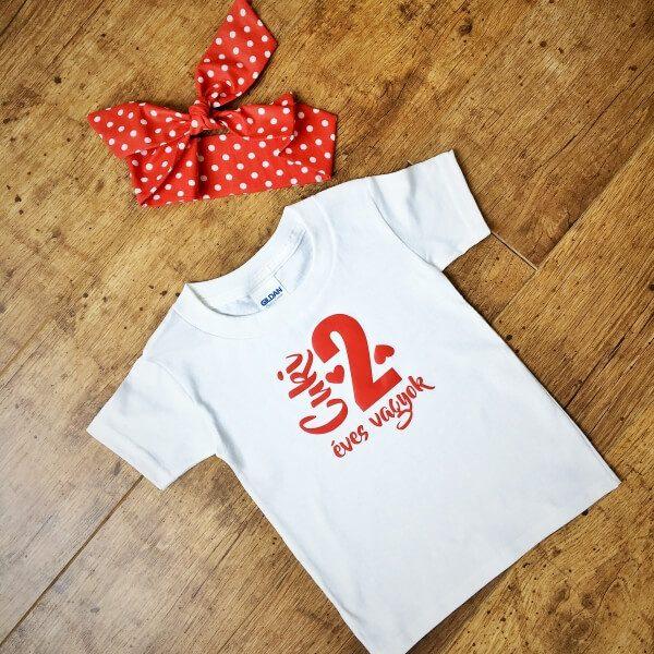 bc1ddba35b Cuki vagyok feliratos póló szett pöttyös fejpánttal - Nobby M Art