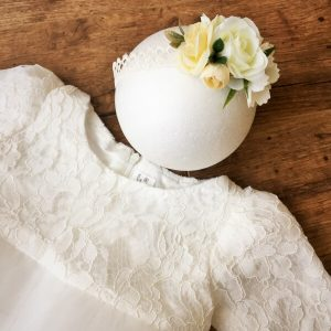 KOKA FAshion virágos fejpánt fehér