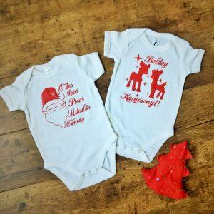 Karácsonyi és Mikulás body babáknak