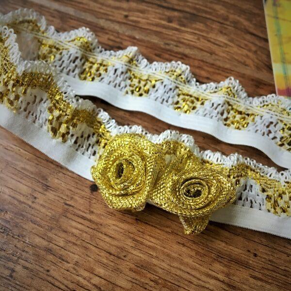 Fehér arany virágos fejpánt