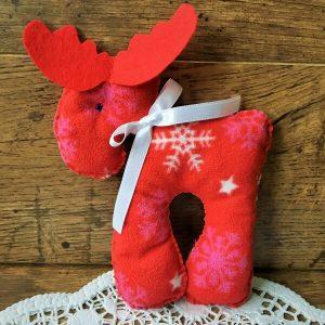 Karácsonyi szarvas piros