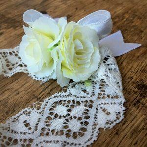 fehér rózsás fejpánt