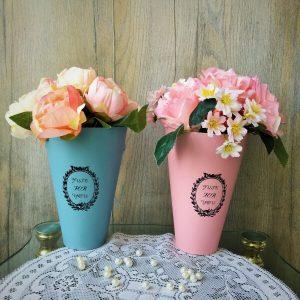 virágtölcsér dekoráció